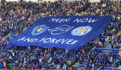 Leicester City Football club giant crowd flag