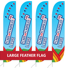 Large Feather Flag