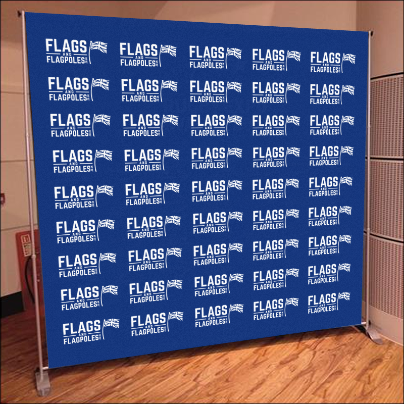 Logo backdrops as photo walls