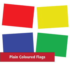 Plain coloured flags