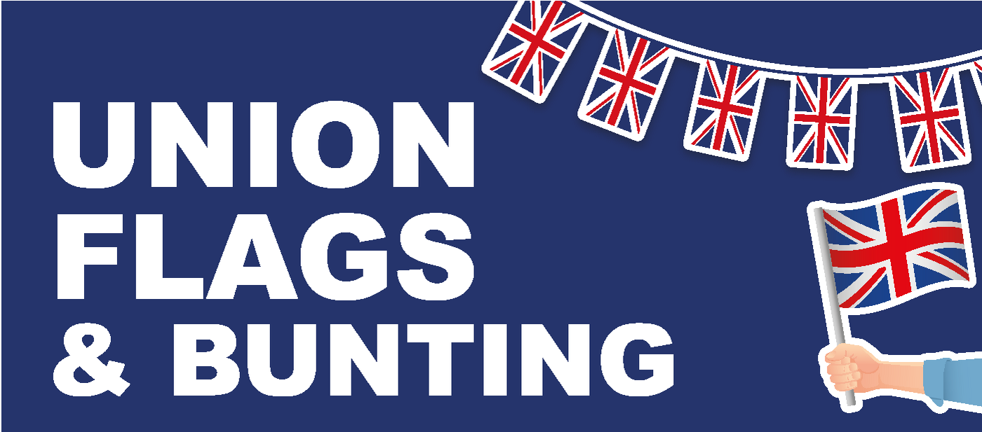 Union Flags, Bunting and Handwavers