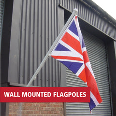 Wall mounted flagpoles