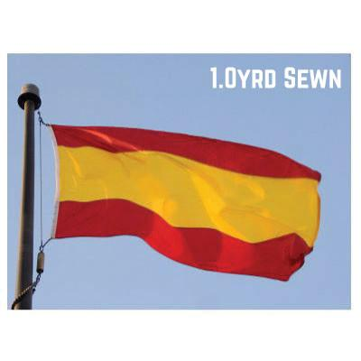 Sewn Woven Polyester Spain Flag 1.0yrd