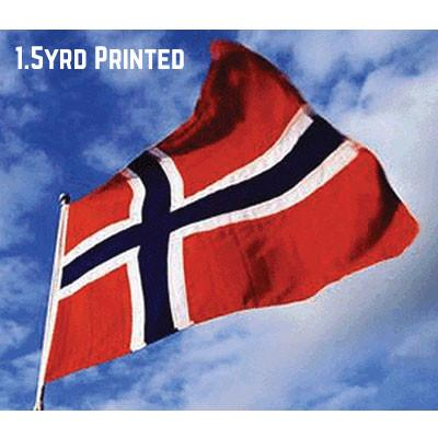 Printed Polyester Norway Flag 1.5yrd