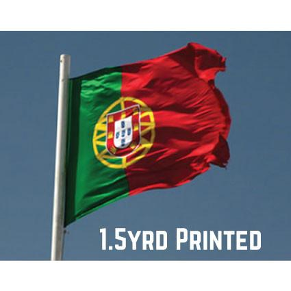 Printed Polyester Portugal Flag 1.5yrd