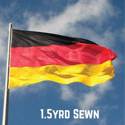 Sewn Woven Polyester Germany Flag 1.5yrd