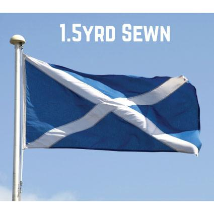 Sewn Woven Polyester St. Andrews Flag 1.5yrd (Light Blue)