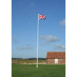 10 metre Deluxe Fibreglass Flagpole with Internal Halyard System