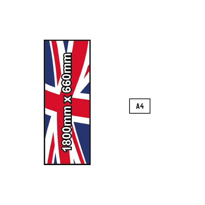 Custom Printed Flag - 1800mm x 660mm