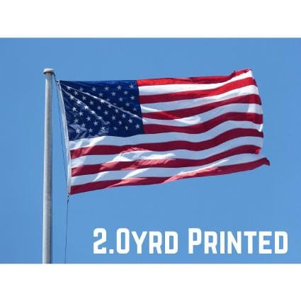 Printed Polyester USA Flag 2.0yrd
