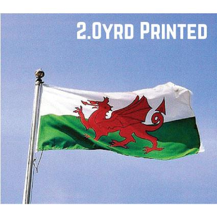 Printed Polyester Wales Flag 2.0yrd
