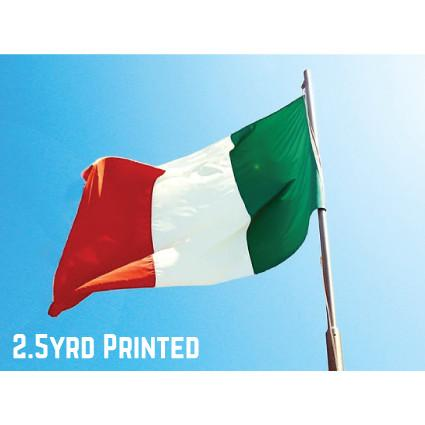 Printed Polyester Italy Flag 2.5yrd