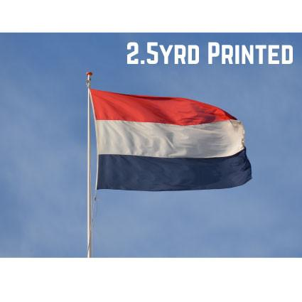 Printed Polyester Netherlands Flag 2.5yrd