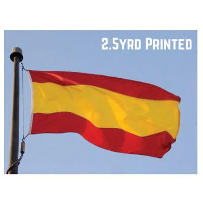 Printed Polyester Spain Flag 2.5yrd