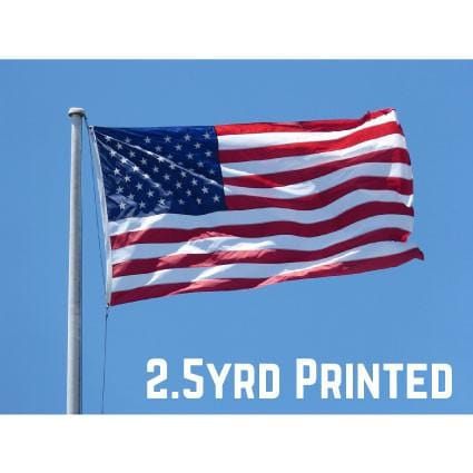 Printed Polyester USA Flag 2.5yrd