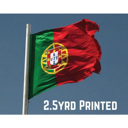 Printed Polyester Portugal Flag 2.5yrd