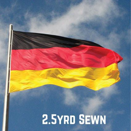 Sewn Woven Polyester Germany Flag 2.5yrd