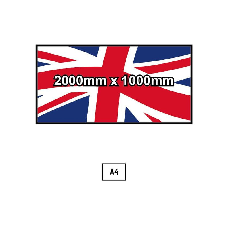 Custom Printed Flag - 2000mm x 1000mm