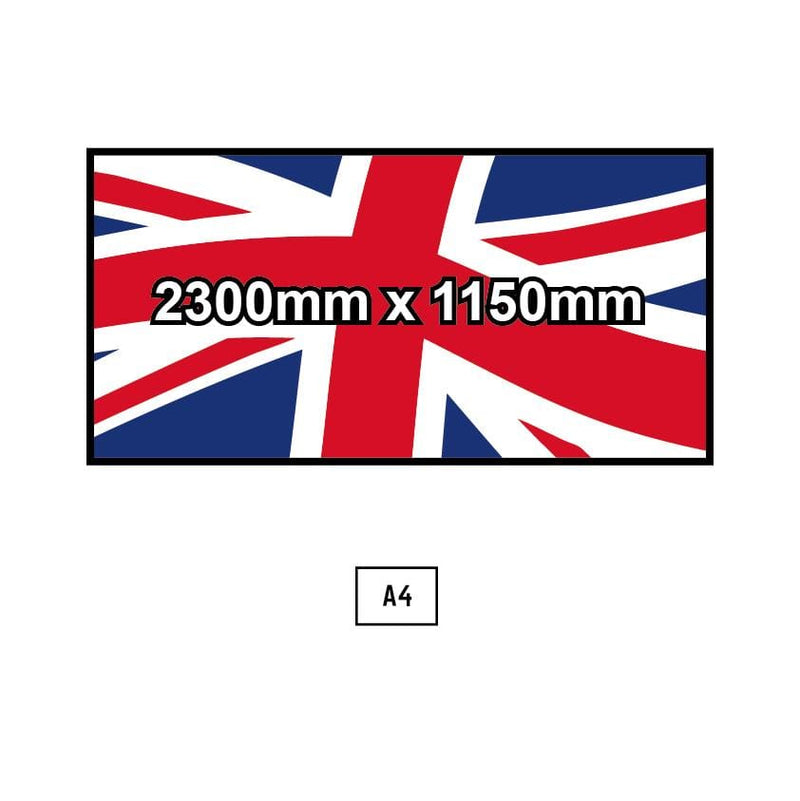 Custom Printed Flag - 2300mm x 1150mm