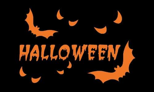 Halloween Bats 5ft x 3ft Flag