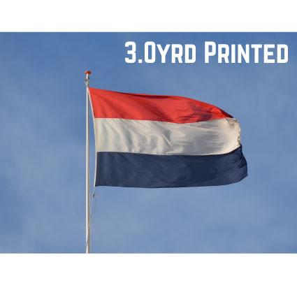 Printed Polyester Netherlands Flag 3.0yrd