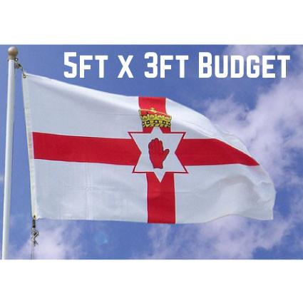 Budget Northern Ireland Flag 5ft x 3ft
