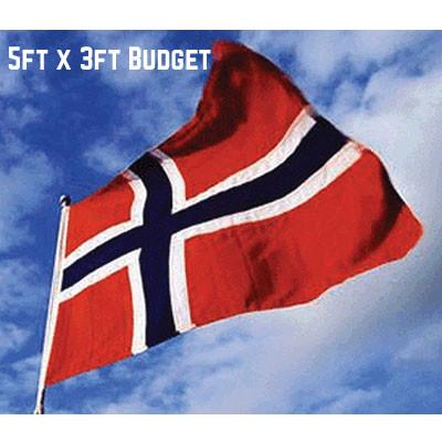 Budget Norway Flag 5ft x 3ft