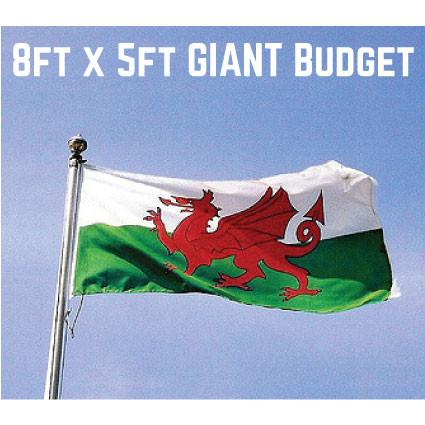 Budget Wales Flag 8ft x 5ft
