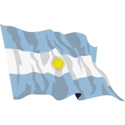Argentina Sewn Flag with Rope & Toggle