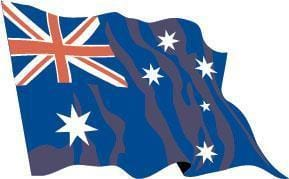 Australia Budget Display Flag
