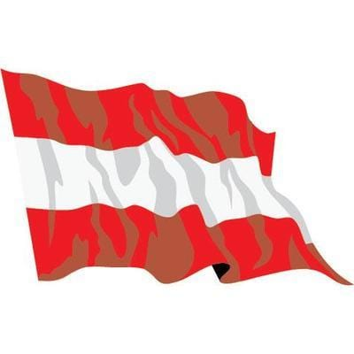 Austria Sewn Flag with Rope & Toggle