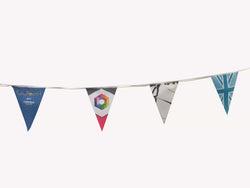 Custom printed Synthetic bunting A3