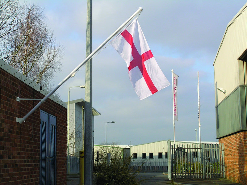 Angled Wall Mounted Flagpole - FREE St George Flag