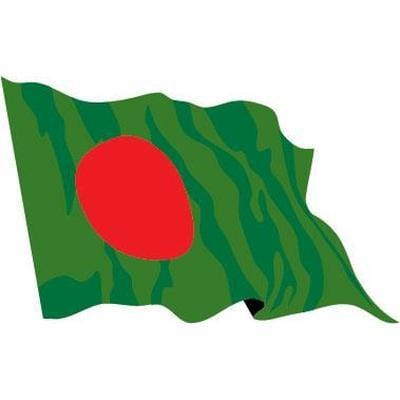 Bangladesh Sewn Flag with Rope & Toggle