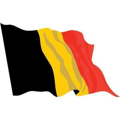 Belgium Sewn Flag with Rope & Toggle
