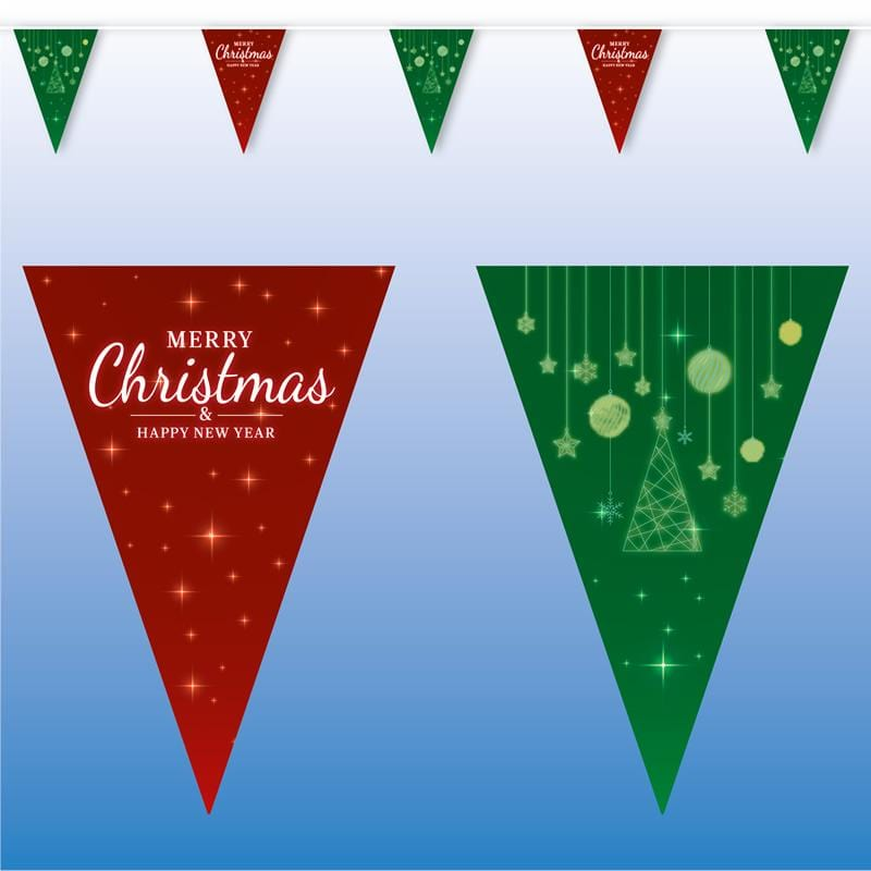 Merry Christmas & Happy New Year Bunting