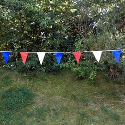 Red, White & Blue Polyflex Bunting - 10 metre length