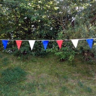 Red, White & Blue Festival Bunting - 10 metre length