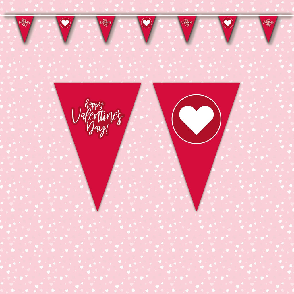 Valentines Day Bunting - red