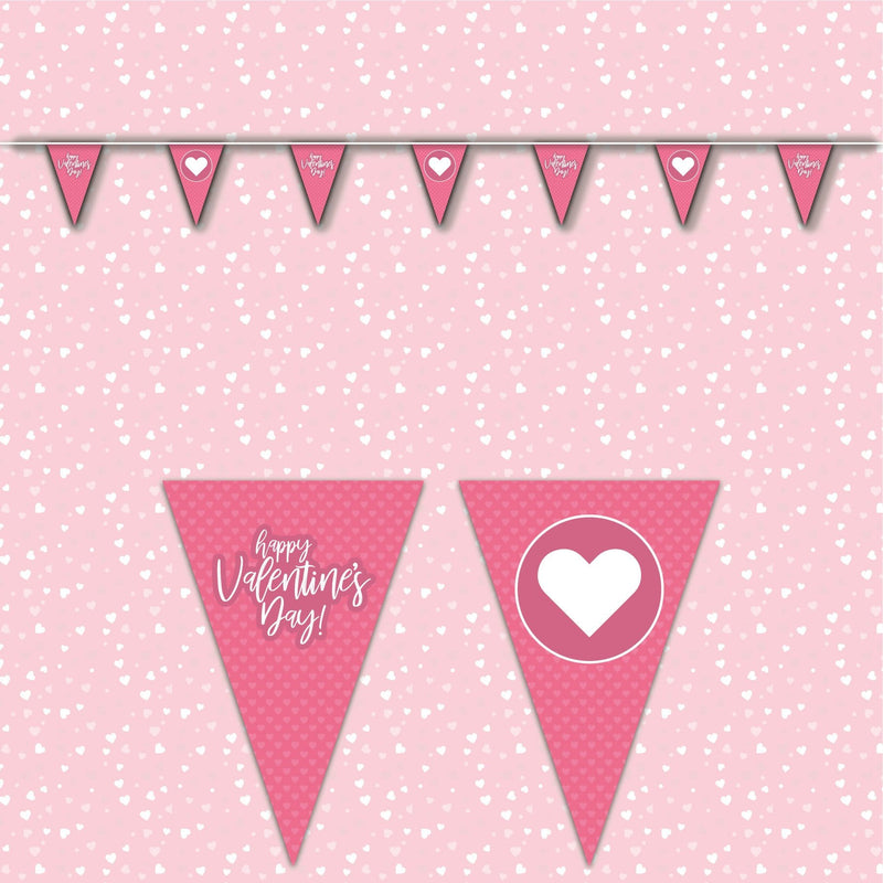 Valentines Day Bunting - pink