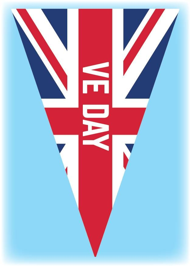 VE Day Bunting Triangular - 10 metres
