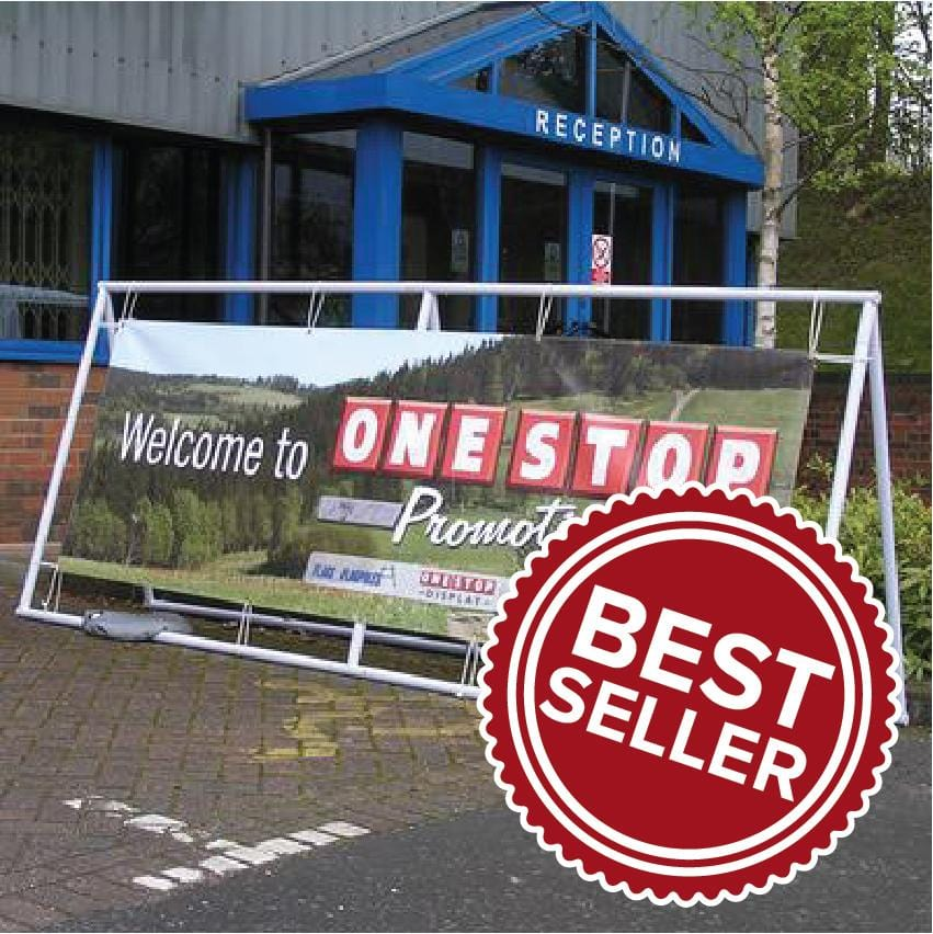 Steel Banner Frame with Banner
