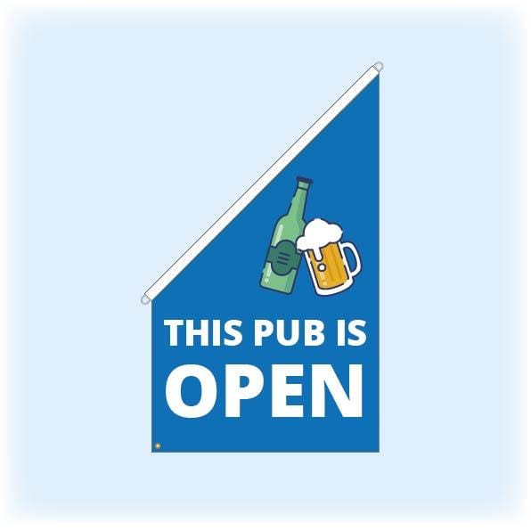 Pub is open - Flag and Flagpole kit
