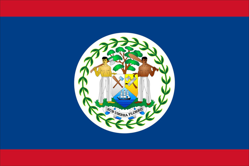 Belize Sewn Flag with Rope & Toggle
