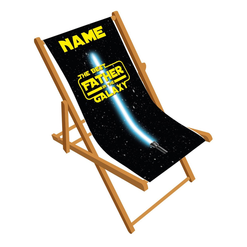 Best Father in the Galaxy personalised Deckchair