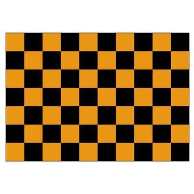 Black & Tangerine Checkered 1.52m x 0.91m (5ftx 3ft) Budget Display Flag