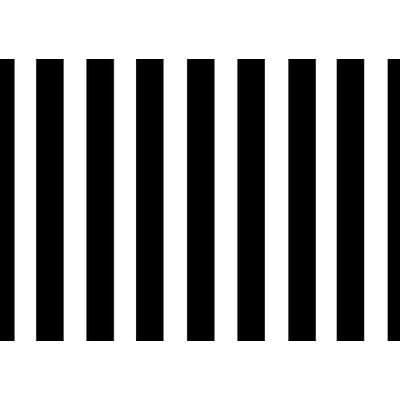 Black & White Stripe 1.52m x 0.91m (5ftx 3ft) Budget Display Flag
