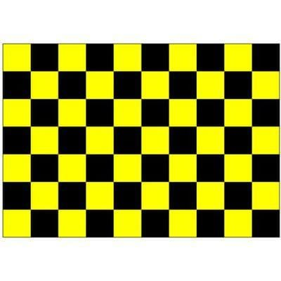 Black & Yellow Checkered 1.52m x 0.91m (5ftx 3ft) Budget Display Flag