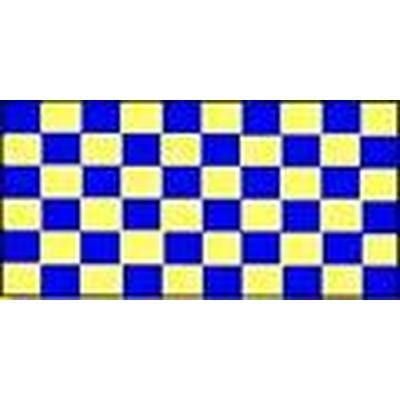 Blue & Yellow Checkered 1.52m x 0.91m (5ftx 3ft) Budget Display Flag