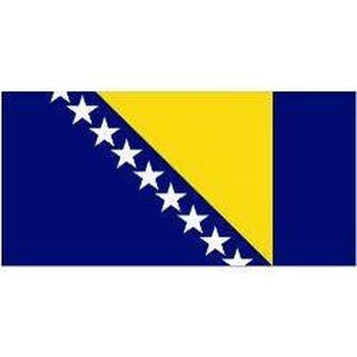 Bosnia & Herzgovina Sewn Flag with Rope & Toggle